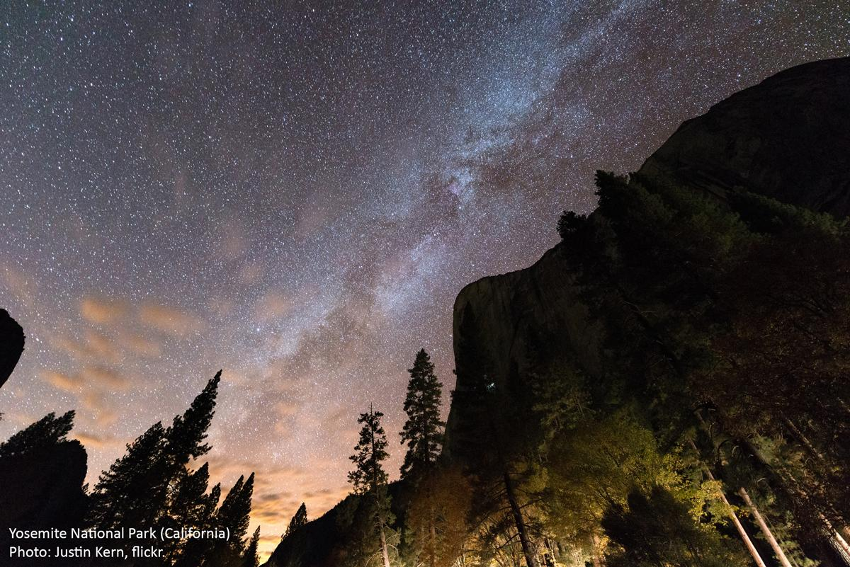 Wilderness Society Tweeted: Stars over Yosemite's El Capitan (in honor of @kjorgeson & @tommycaldwell1). Have a good night!  (Photo by Justin Kern, flickr)