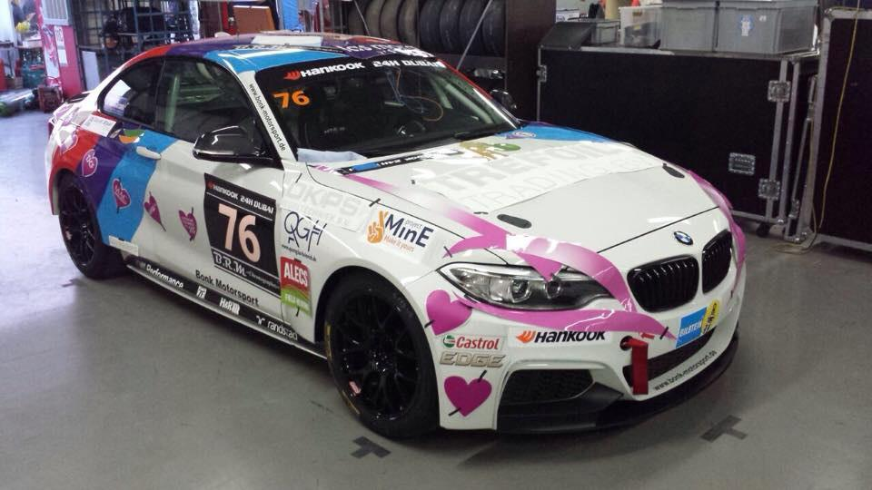 "1st pica's of ""our"" brandnew car! @24HSERIES  @Dubai2015 @LasMorasRT today at 13.00 rollout"