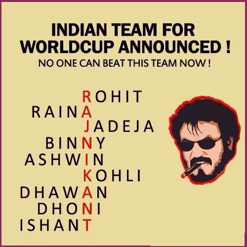 Eppadi ellam think pannuraanga saami!!! #rajini #cricket http://t.co/BpH8pjq3hv