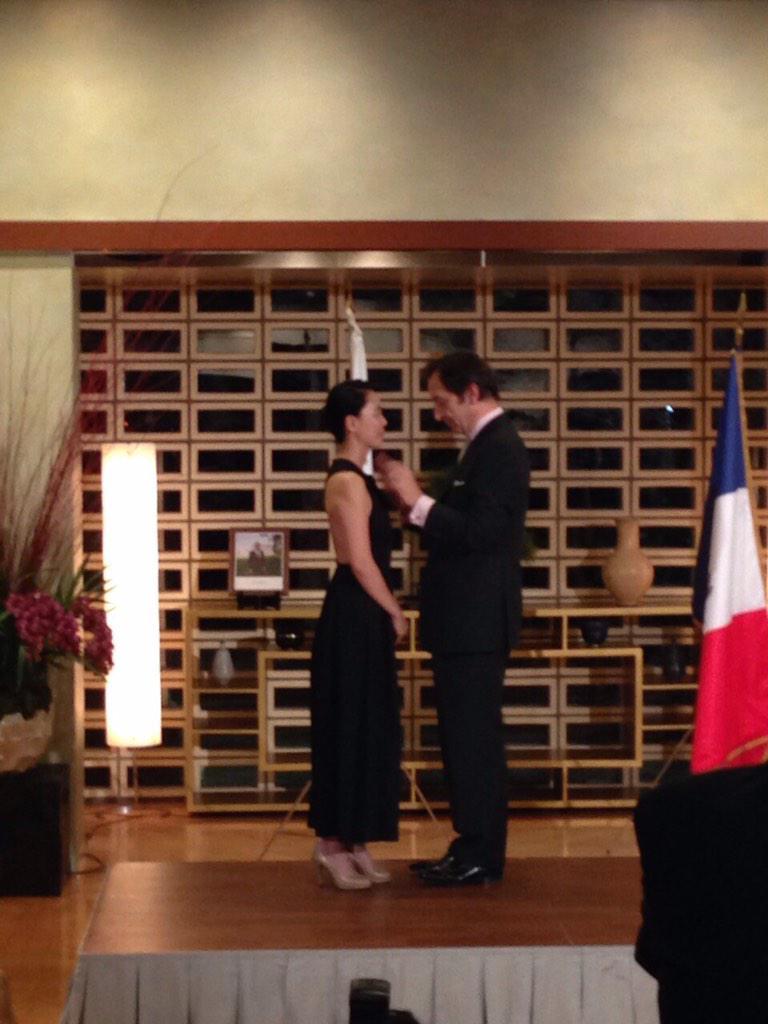 本日、フランス文化勲章受賞しました‼︎ http://t.co/eAD53RNAyX