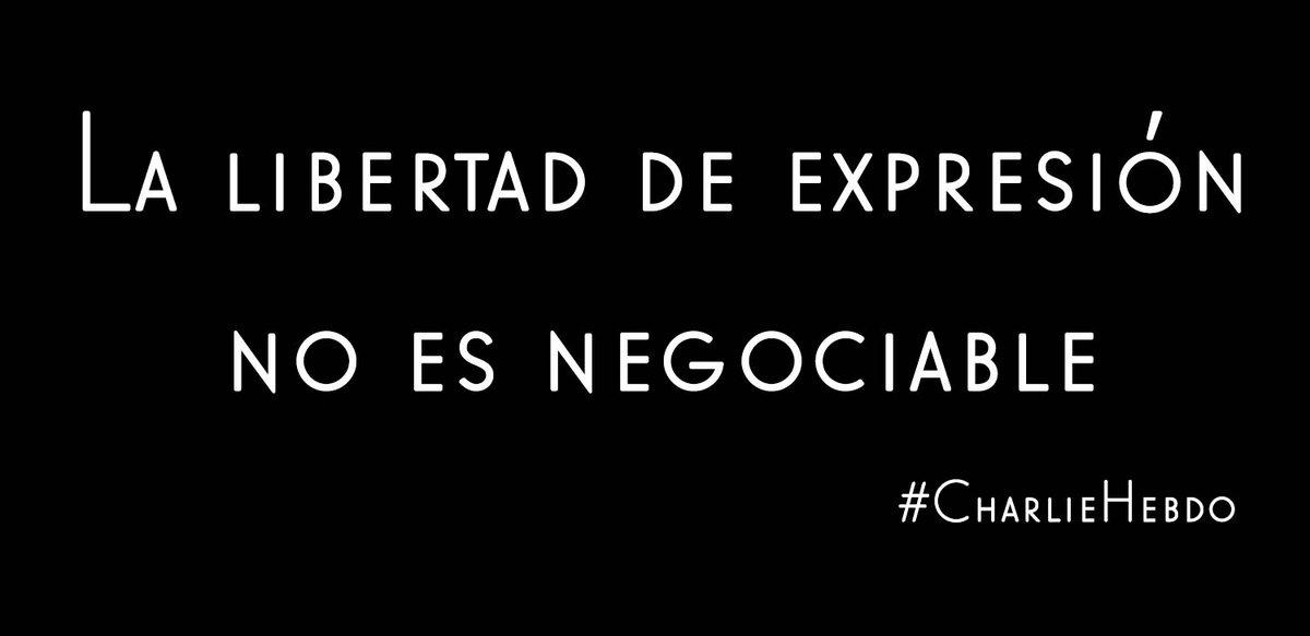 La libertad de expresión no es negociable #CharlieHebdo http://t.co/vUY9LCYhnB