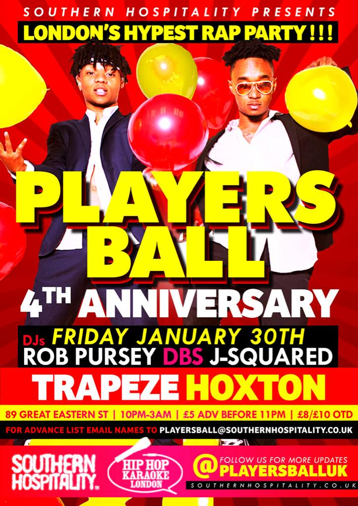 Players Ball Till We Fall Y'all! FOUR years deep- Friday January 30th! Tell a friend to tell a stranger... http://t.co/uiuN4YsrnD