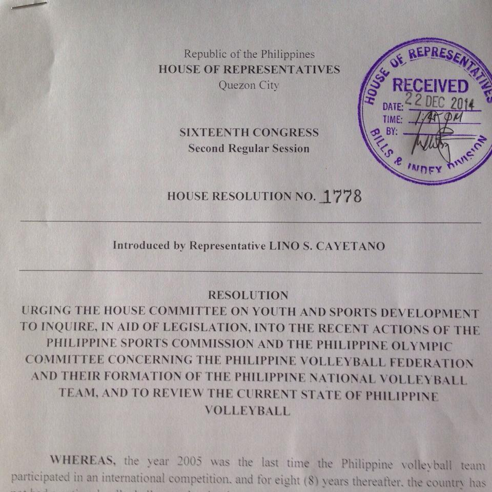 I support this reso'n filed by Cong @linocayetano to investigate the officials' actions & the status of the sport http://t.co/y5zTn2wUNa