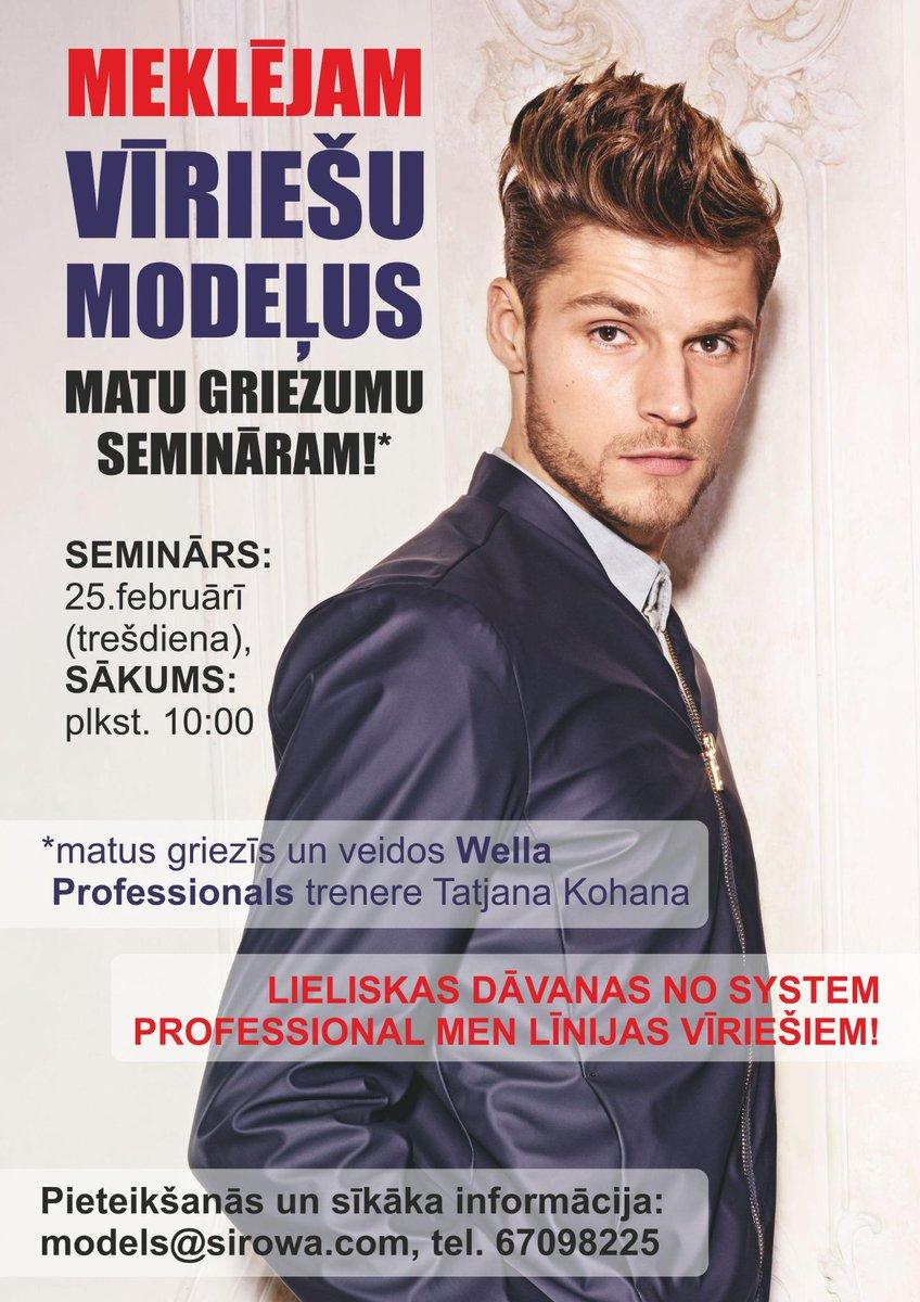 Meklējam vīriešu modeļus matu griezumu semināram!Sūti savu foto un telefona numuru uz:models@sirowa.com,tel. 67098225 http://t.co/cP9ZJfmwrN