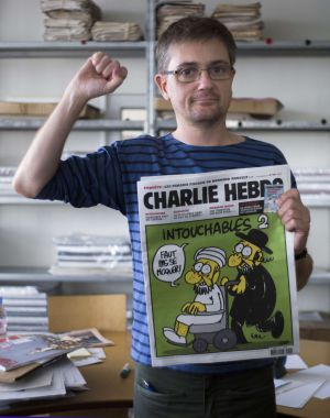 """""""I don't feel as though I'm killing someone with a pen."""" -Stephane Charbonnier 1967-2015 #CharlieHebdo http://t.co/MAZ2XvTUPY  @notrexmurphy"""