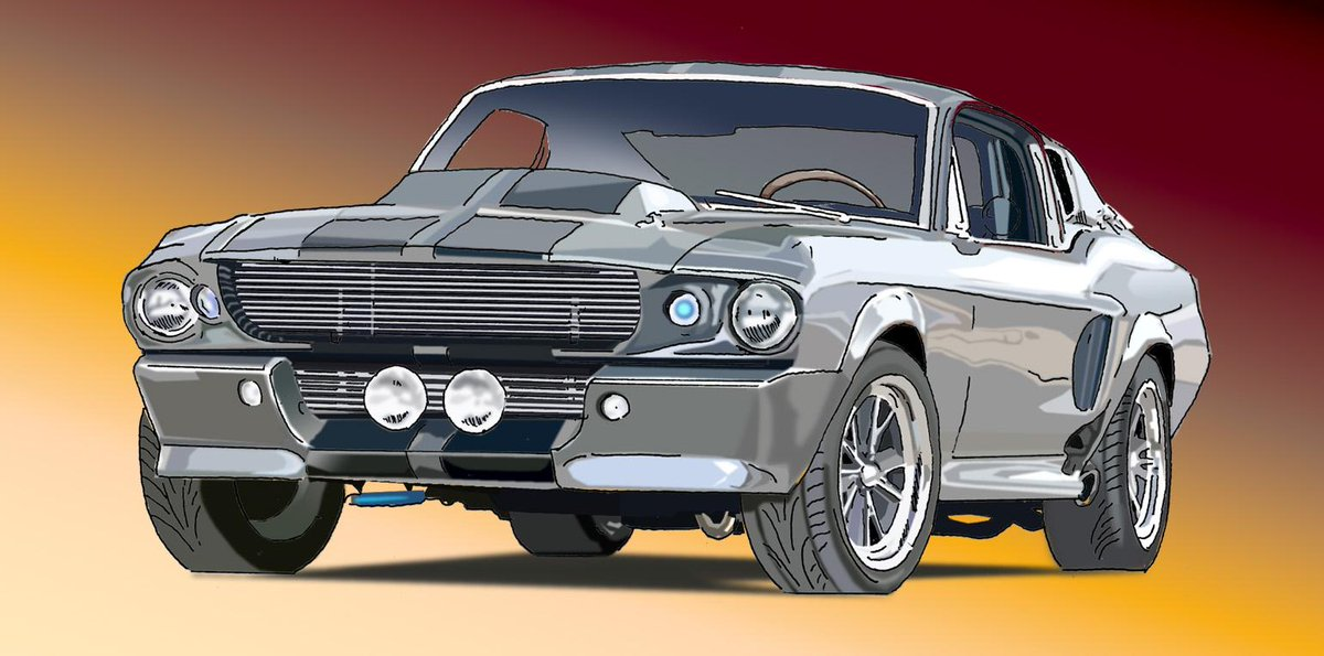 "#SketchoftheDay  ""Eleanor"". Custom 1967 #Mustang. @drivingdotca @FordCanada http://t.co/j7NQ1dhQi8"