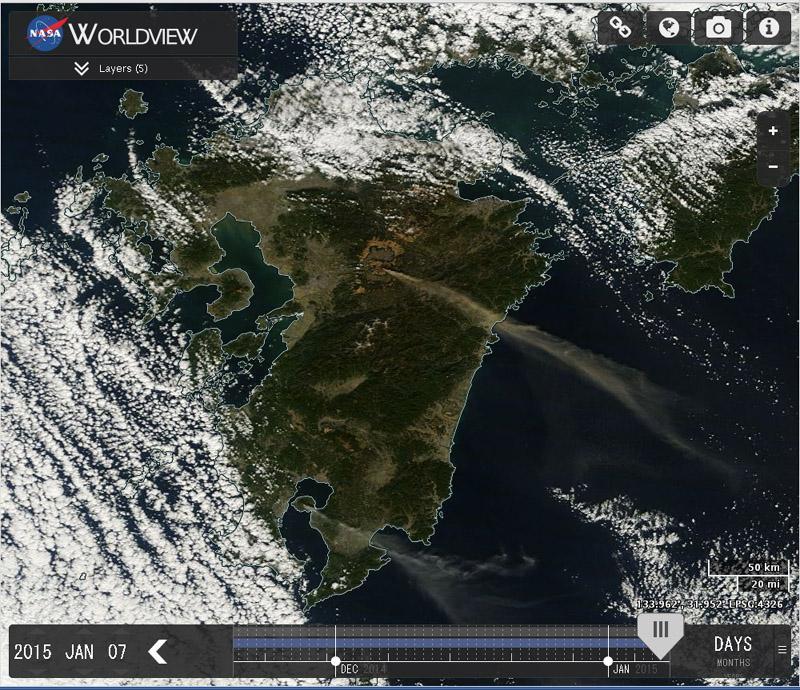 九州には、活発な噴火を続けている大きな火山が二つもあります。こんなところから、原発再稼働…。 @iwakamiyasumi   QT @meguru_ NASA MODIS画像、今日の九州地方。 阿蘇と桜島からの噴煙がすごーい!! http://t.co/aKSMVJtLyK