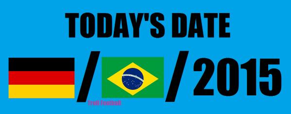 Que dia é hoje? Zoação lembra tragédia da Seleção: http://t.co/92LIfLysHi http://t.co/gwFv1oKXkR