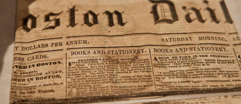Jornal encontrado de 220 anos