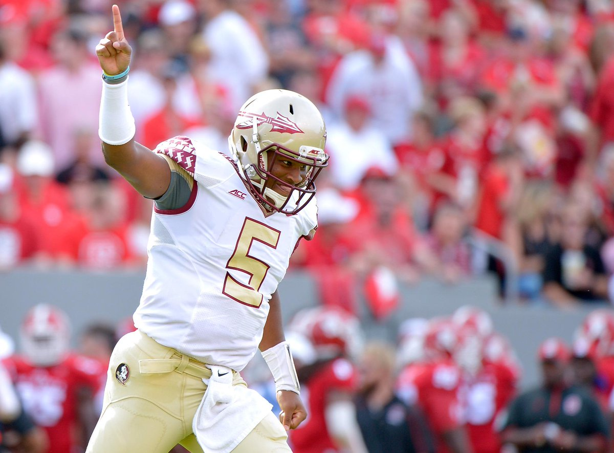 Jameis Winston's career at Florida St: • 26-1 record • 7,964 Pass yds, 65 TD • Heisman trophy • National Championship http://t.co/G50oJNUAFp