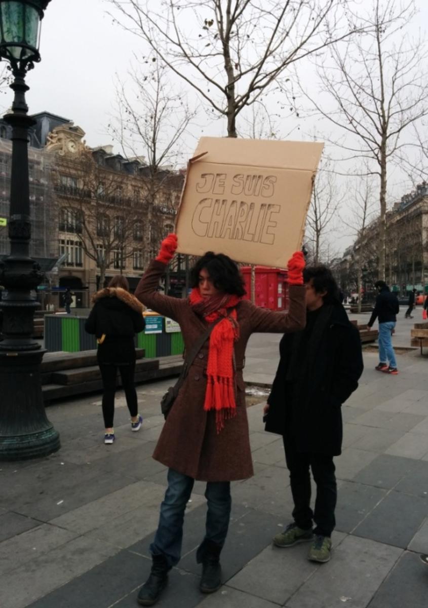 Paris now: #JeSuisCharlie http://t.co/16ZTBXDImK