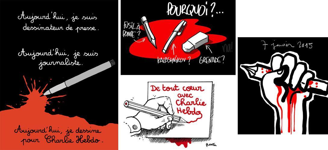 Les hommages en dessin aux dessinateurs tués de #CharlieHebdo http://t.co/eIFe3QGNzO http://t.co/fQ2f53HTih