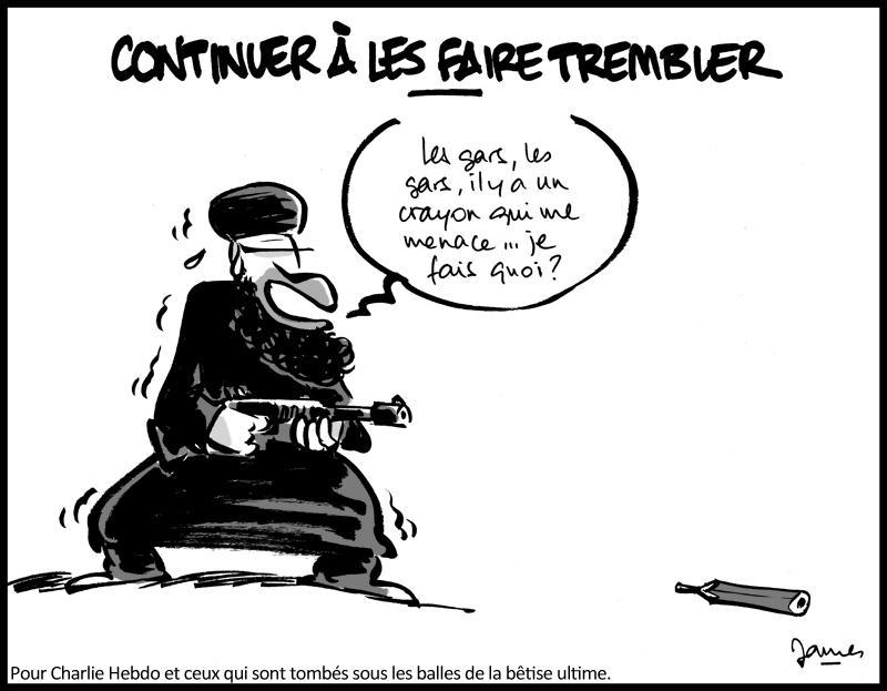 Nous aussi on est lourdement armés. #CharlieHebdo http://t.co/yW46eL8El7