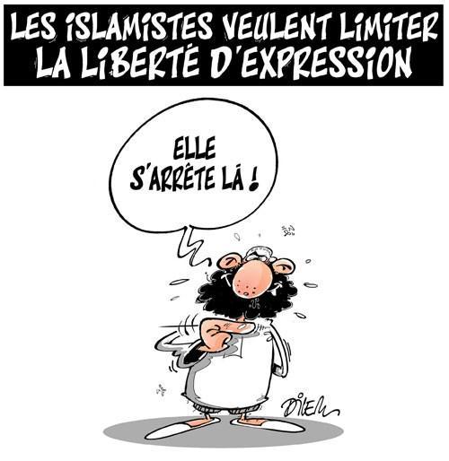 Les islamistes veulent limiter la liberté d'expression (Dilem)