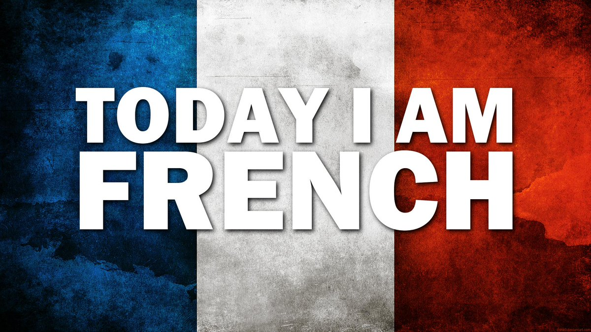 TODAY I AM FRENCH  We stand with our friends and oldest allies at this difficult time.  #CharlieHebdo #TodayIamFrench http://t.co/2DyqaGGvMe