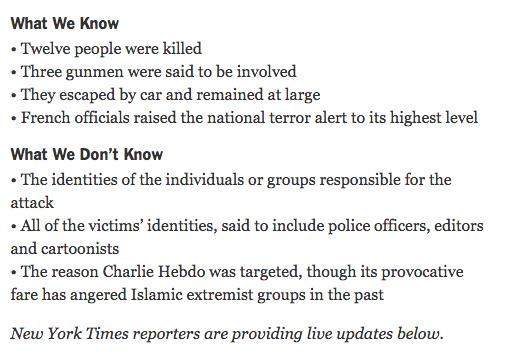 """Underrated aspect of the NYT's breaking news template: """"what we don't know"""" http://t.co/lKoT8licjv http://t.co/vXEBhuYm8L"""
