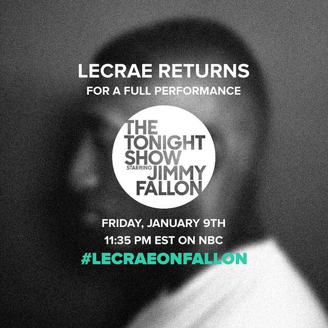 Excited to say I will be djing for #LecraeOnFallon this Friday night! Get them DVRs ready!