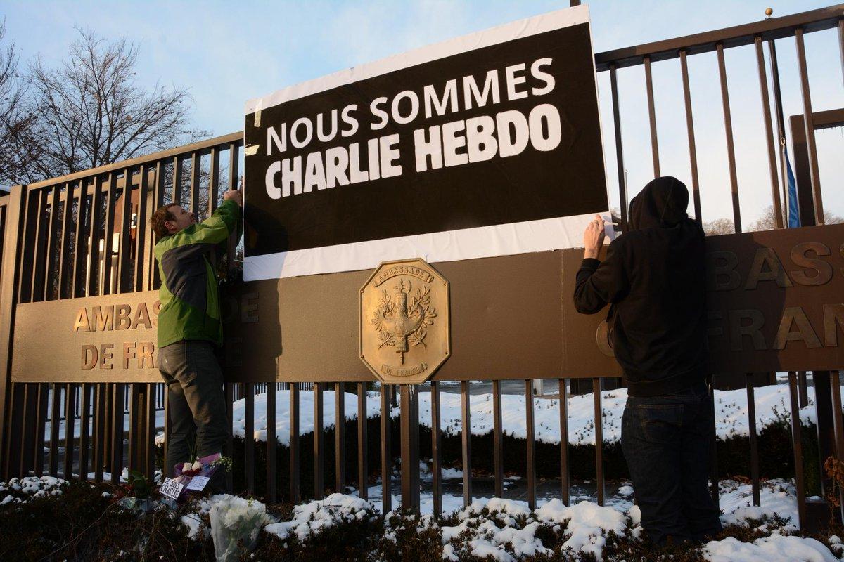 Here @franceintheus, We are all Charlie Hebdo! #NousSommesTousDesCharlieHebdo http://t.co/AoCNoU5Qv2