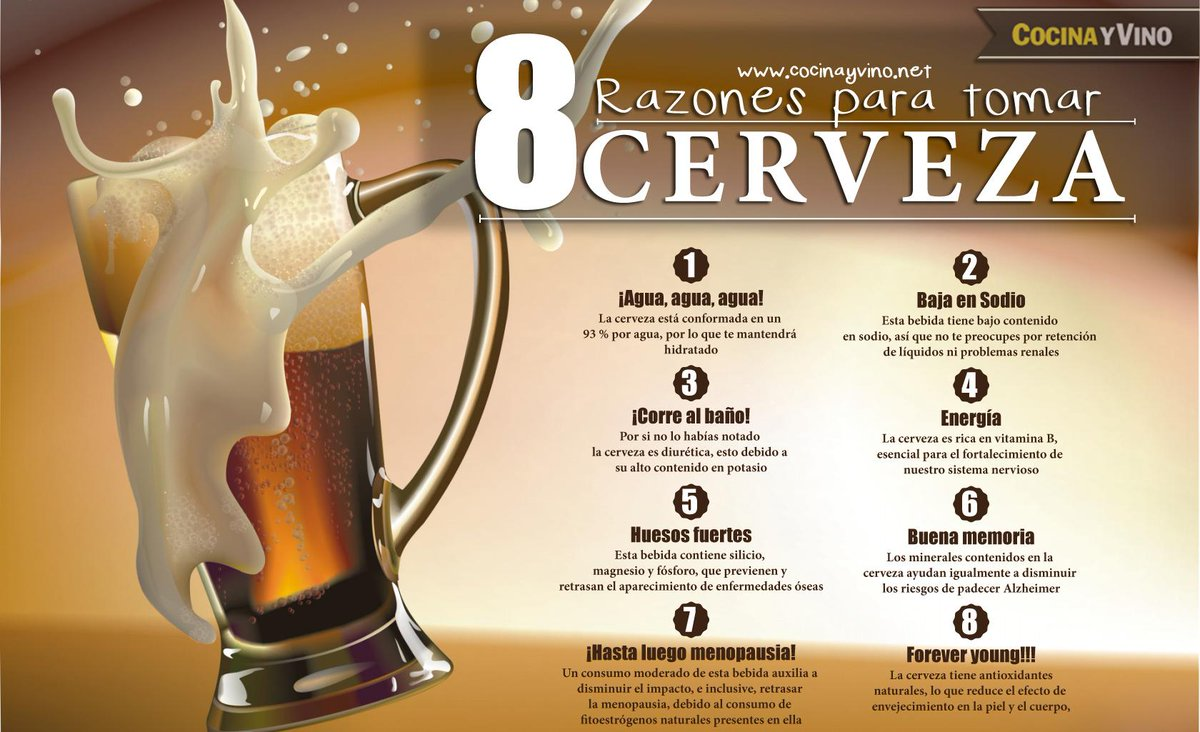 Cocina Y Vino On Twitter 8 Beneficios De Tomar Cerveza Http T Co M0so0c2u7p