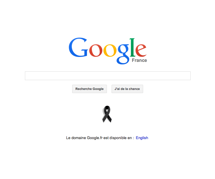 We Love Each Other Meme: Google Has Added A Black Ribbon To It's France Homepage