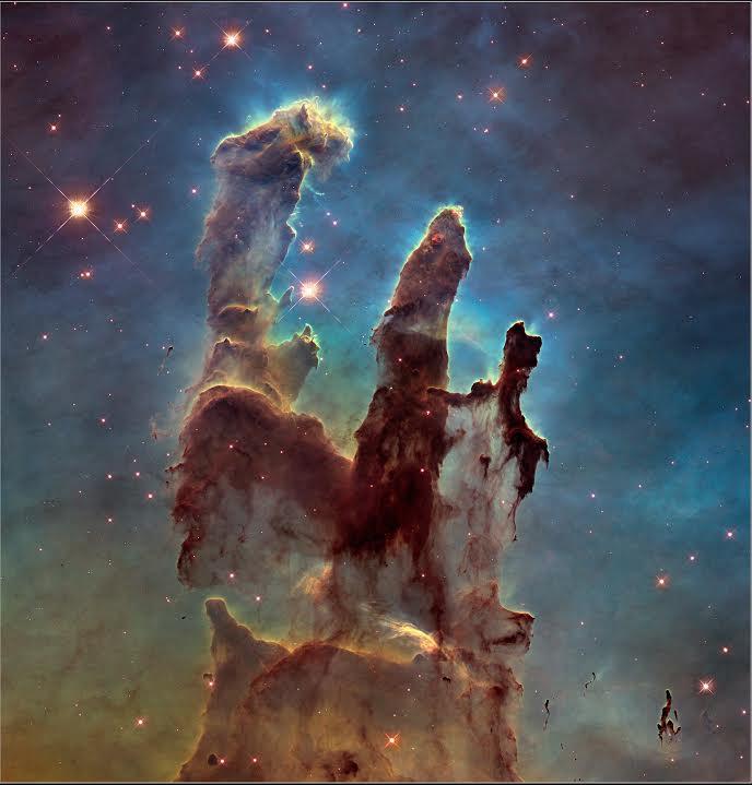 Perto de completar 25 anos, telescópio espacial Hubble fotografa os 'Pilares da Criação'. http://t.co/AugL4HRCXn http://t.co/RbmQh5MJdC