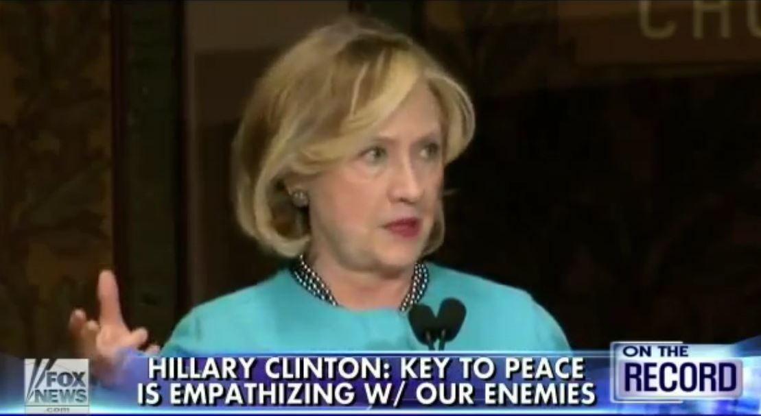 """Hillary working to track down the Islamist murderers so she can express her """"empathy"""". #tcot #hewitt http://t.co/JodfuBM3Tz"""