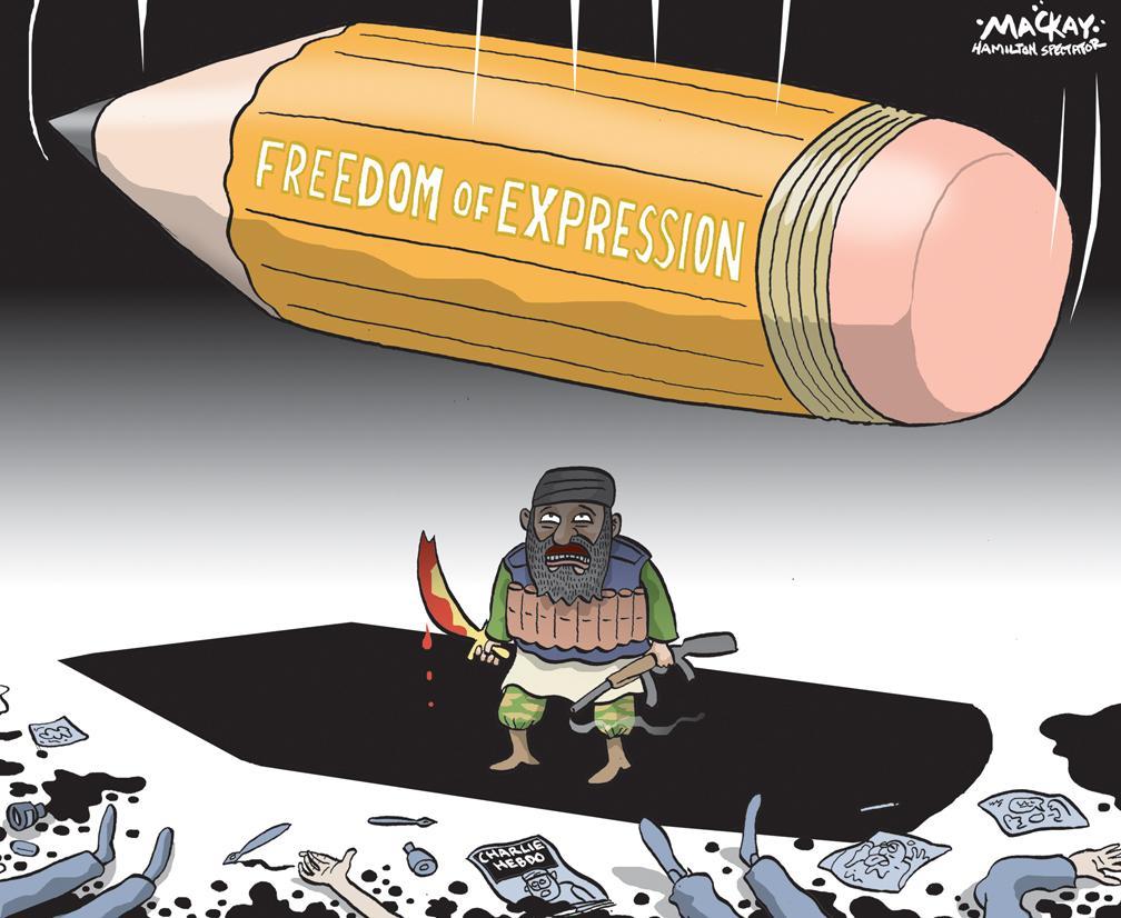 #CharlieHebdo cartoon in the Thursday Hamilton Spectator #JeSuisCharlie #cdnpoli http://t.co/biB1wK32TE http://t.co/j59AWV1rQ1