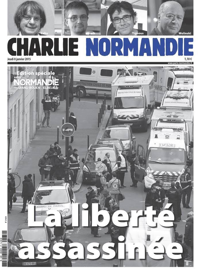 Pour rendre hommage à #CharlieHebdo, le @paris_normandie de demain s'appellera #CharlieNormandie. http://t.co/d1ofOsgNhO