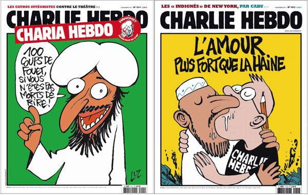 I hope major news outlets will repost the cartoons from #CharlieHebdo. Sadly, free speech hasn't/doesn't come free. http://t.co/zLgSQkMyu0