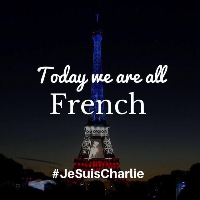 Today we are all French. #jesuischarlie http://t.co/S169BVmNSj