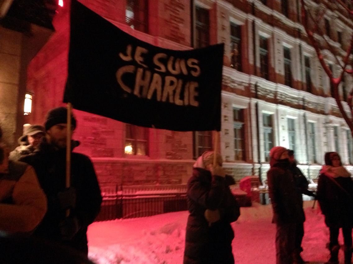 RT @EDebroise: #JeSuisCharlie manifestation #Québec #CharlieHebdo 450 personnes http://t.co/cQopX8B9dm