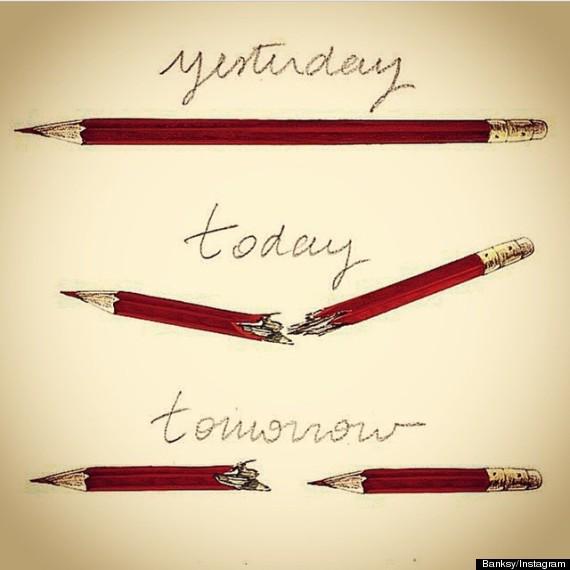 «Bansky» aurait réagi à l'attentat contre #CharlieHebdo avec un dessin poignant http://t.co/d6fIQLgyLp http://t.co/9ZI0UQG7pD