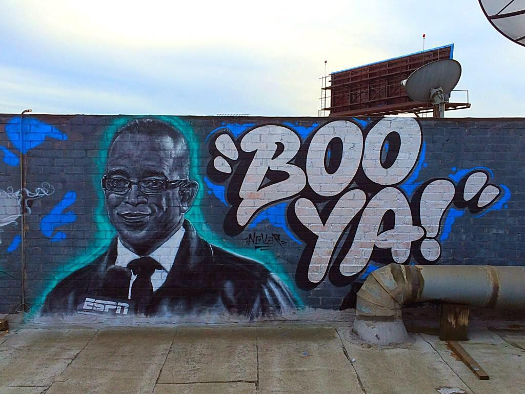 My boy @never1959 created some Stuart Scott magic today in Los Angeles http://t.co/tbRK5K5HVB
