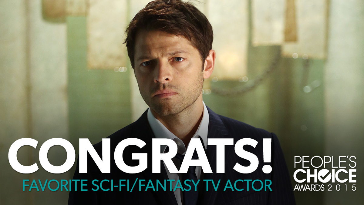 Congrats to @MishaCollins on his 2015 #PeoplesChoice Award! Thank you #SPNFamily for your support! #Supernatural http://t.co/aDUiR0OeJh