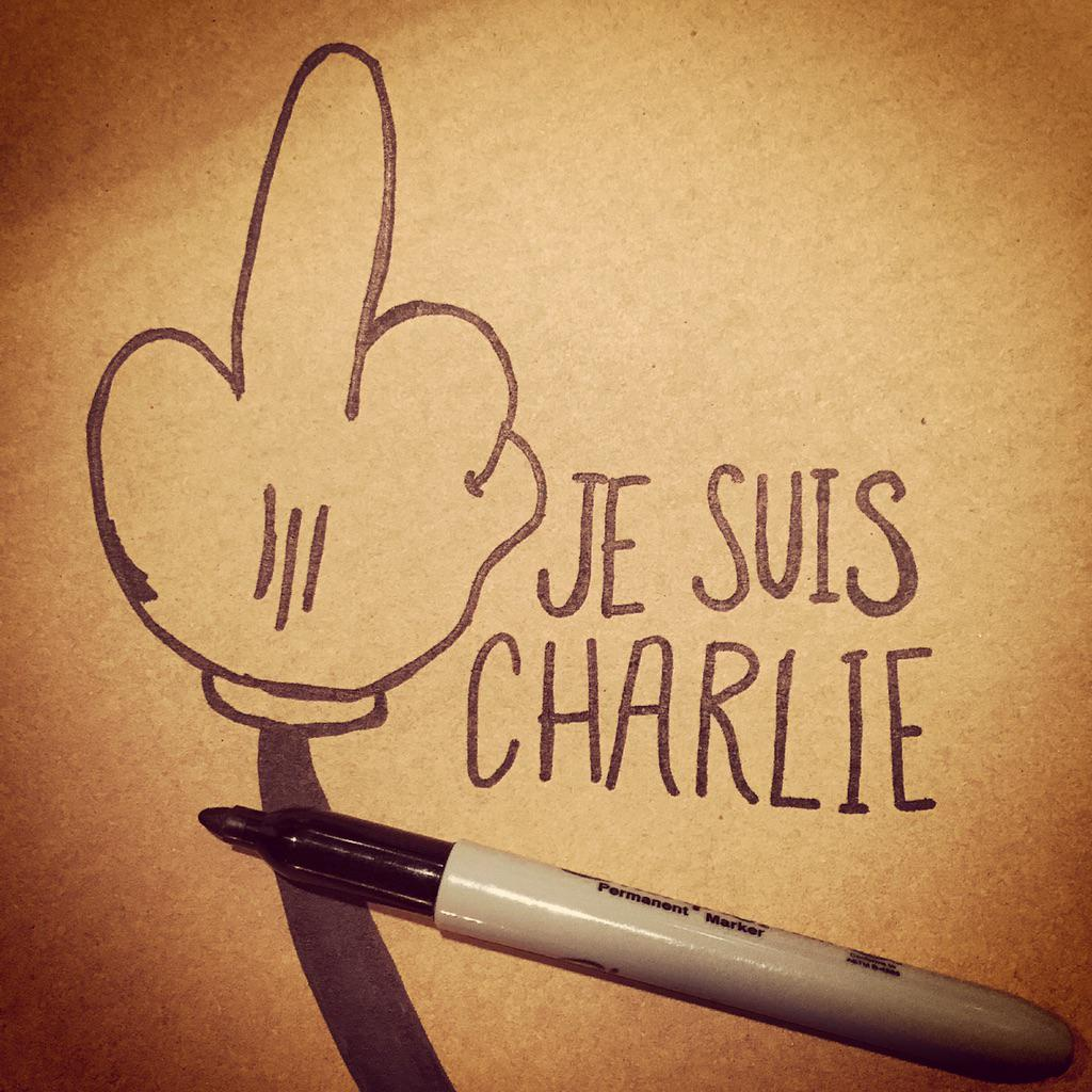 What cowards to kill over cartoons. Speech is a precious thing we must fight to protect. #JeSuisCharlie http://t.co/YOjIam1Nmz