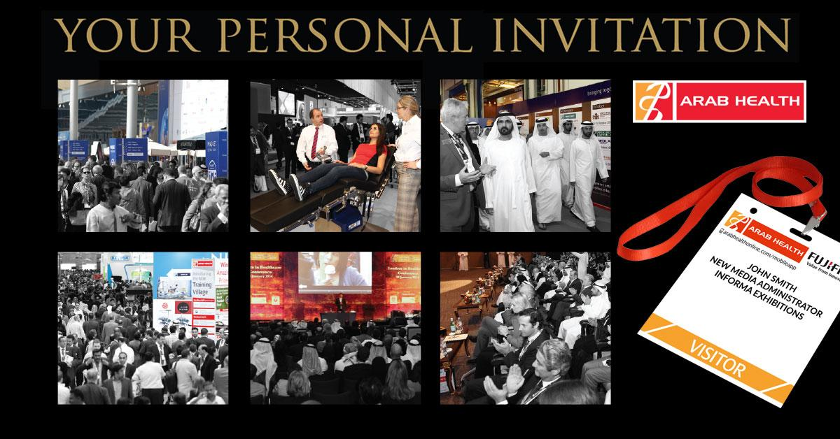 RSVP for your free Arab Health visitor pass http://t.co/2q5ME2QSbU. See you 26-29 Jan in Dubai! #DWTC #arabhealth http://t.co/Spb4aIZggq