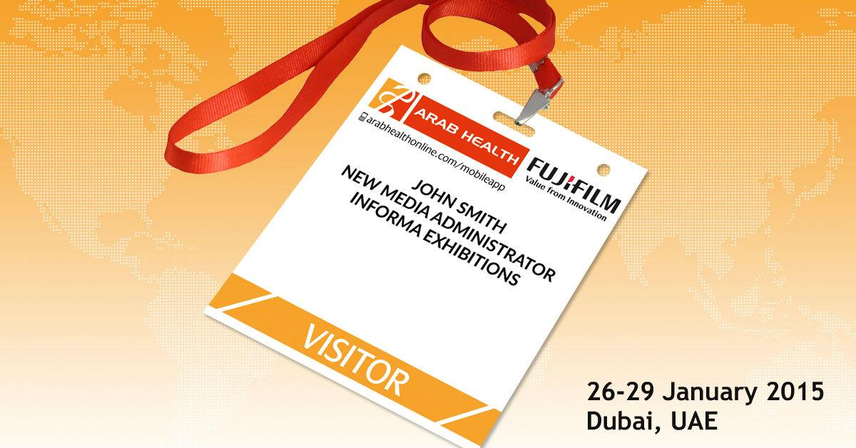 Click http://t.co/LiteZyXFkR for your free Arab Health visitor pass. Quick & easy. See you there! #arabhealth http://t.co/ctaD0Sw9v9