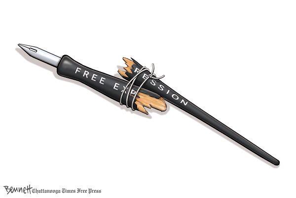 Clay Bennett's cartoon on the tragedy at Charlie Hebdo