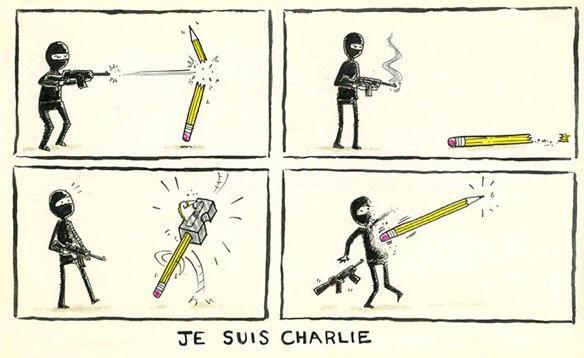 Sans journalisme, il n'y a pas de démocratie. En solidarité avec les français et mes amis. #JeSuisCharlie http://t.co/qoOXh25bcs