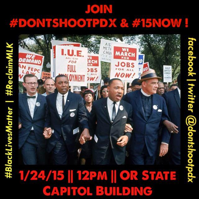 @DontShootPdx #15Now #BlackLivesMatter #EndPoverty #BrownLivesMatter #Solidarity #Oregon #PDX