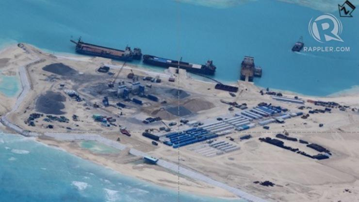 "South China Sea News on Twitter: ""Fiery Cross Reef in ..."