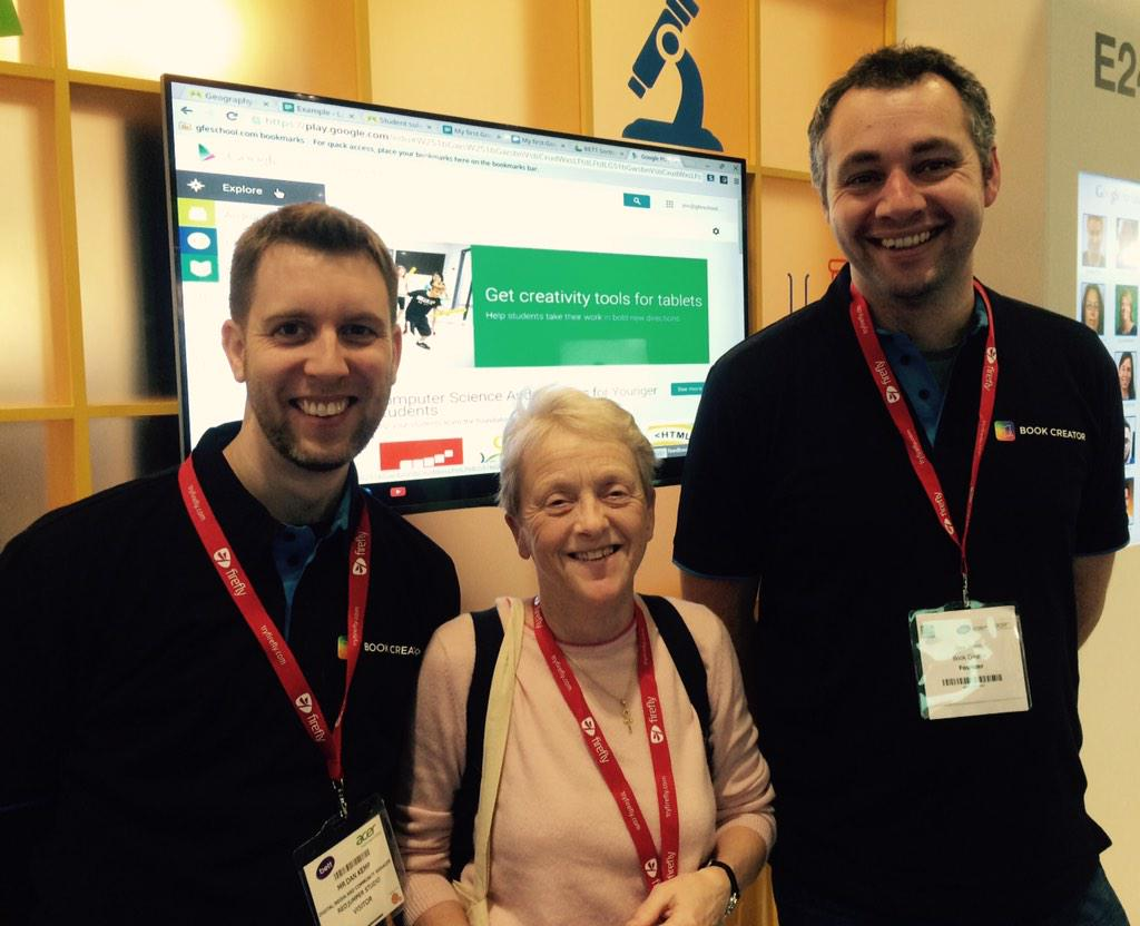 Lovely to meet @sjfSoS at the Google stand at #Bett2015 http://t.co/sbwFfvpg63