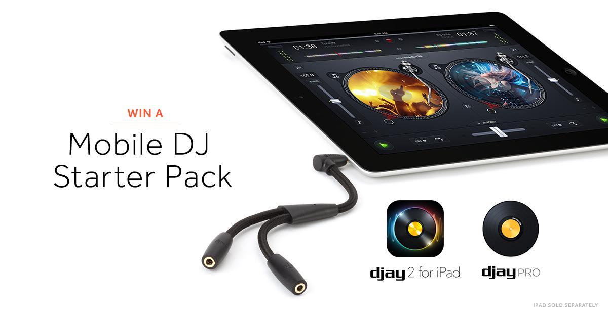 #Win a DJ Cable & djay by @algoriddim! Follow @GriffinTech & RT to enter. Winner announced 10AM on 1/23. #NAMM2015 http://t.co/Pu3UWAXnRY