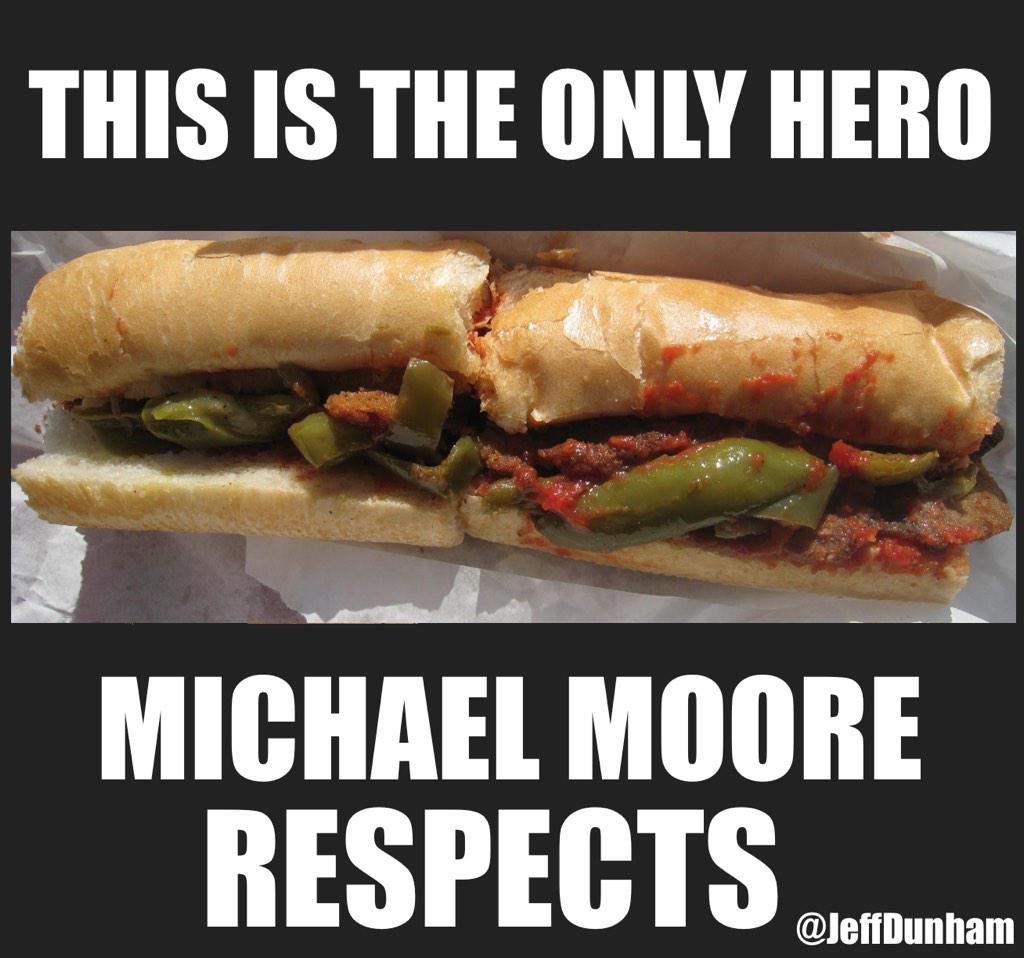 The only hero Michael Moore respects. #AmericanSniper #ChrisKyle http://t.co/ODbOif8oD2