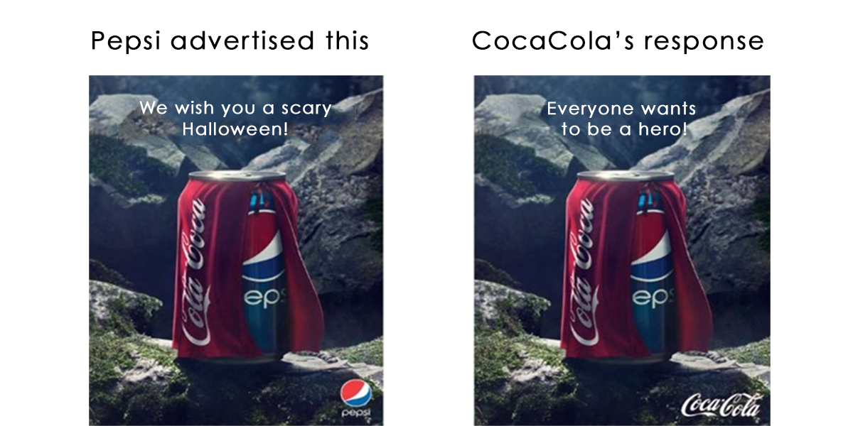 Pepsi Vs Coca Cola Halloween Ad.Mybridge Growth On Twitter Pepsi Vs Cocacola On Halloween Ad Http