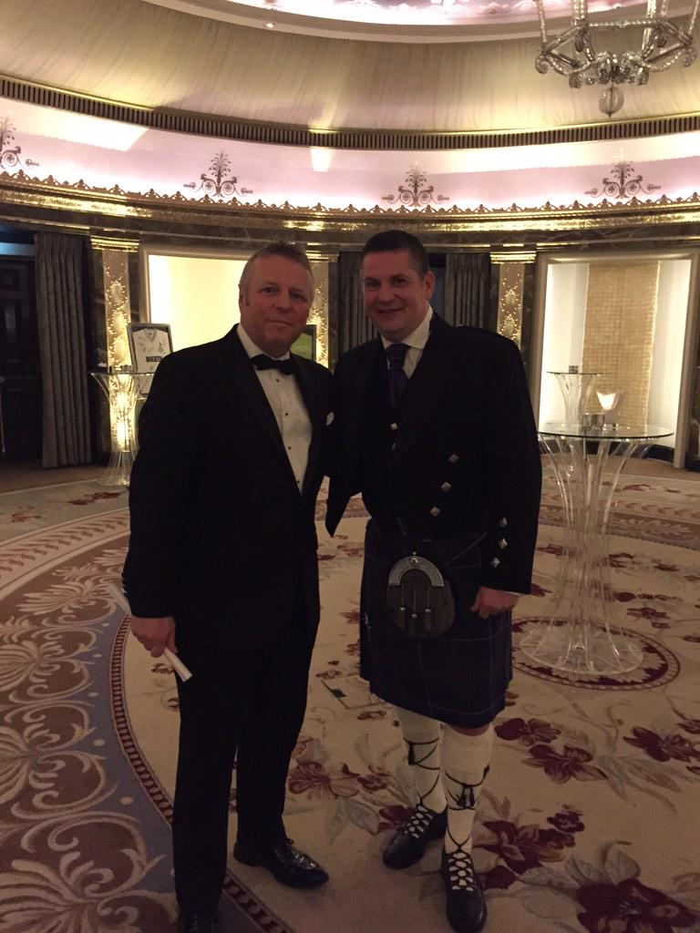He is the Champion of the Woorrrrllld ! @GaryAnderson180 with @JohnMcDonald_MC here at #Darts big night http://t.co/ViPirqhgSL