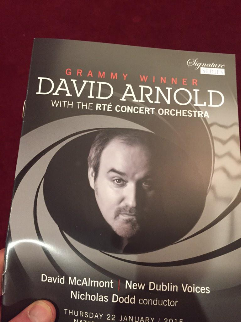 Looking forward to experiencing my first orchestrated performance tonight #davidarnold #bond..jamesbond @DavidGArnold http://t.co/yr1ychaO5B