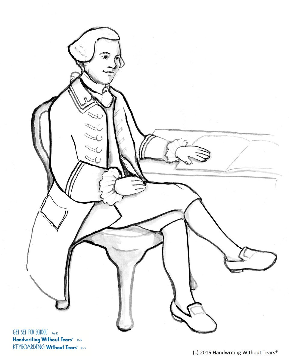 hwt on twitter our founder jan olsen drew john hancock print use it as a coloring page for nationalhandwritingday tomorrow httptcosimxdbglmv