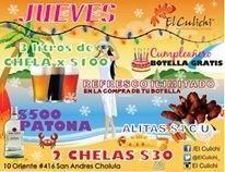 Botella de regalo si cumples años en la semana!!! Además de nuestras grandes promos!!! Culichi cholula!!! http://t.co/1aCUHFMRqS