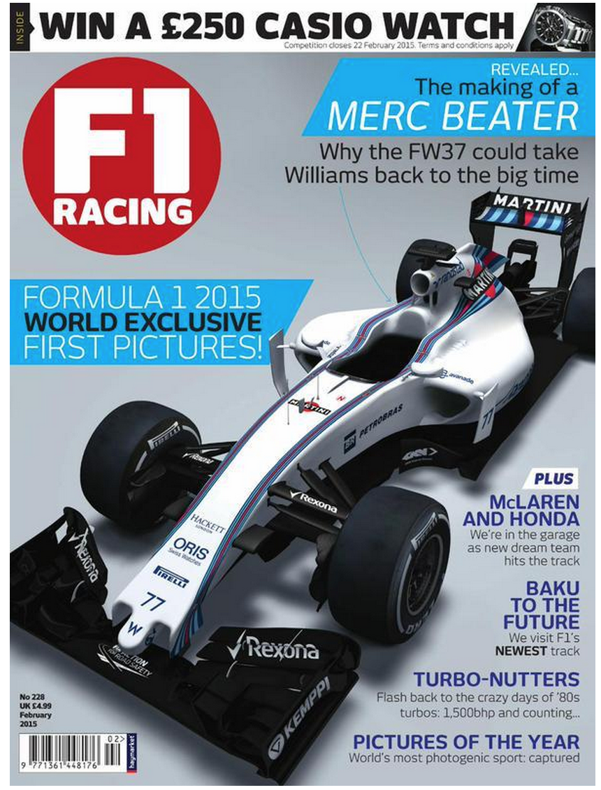 F1Racing Magazine Reveals Williams FW37 B706VD1CUAAoCur